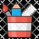 Pencil Jar Stationary Icon