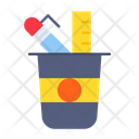 Pencil Jar Box Holder Icon