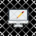 Pencil On Screen Editing Writing Icon