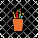Pencil Rack Pencil Container Pencils Icon