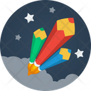 Pencil Rockets Startup Space Icon
