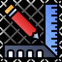 Pencil Ruler Measure Icon