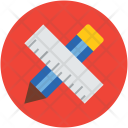 Pencil Ruler Drawing Icon