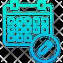 Pencil Schedule Icon