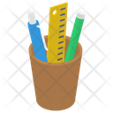 Pencil Stand Stationery Pencil Rack Icon