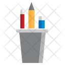 Pencils Glass Pencils Case Pencil Case Icon