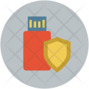Pendrive Drive Shield Icon