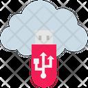 Cloud Computing Pendrive Icon