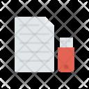 Pendrive Data Flash Icon