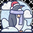 Holiday Antarctic Penguin Icon