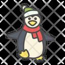 Winter Penguin Bird Icon