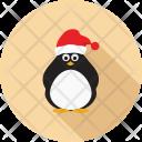 Penguin Bird Santahat Icon