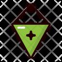 Pennant Flag Soccer Icon