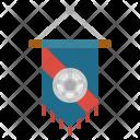 Pennant Flag Sportive Icon