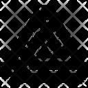 Line Shape Triangle Icon