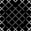 Pentagon Shape Geometric Figure Icon
