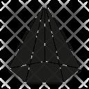 Pentagonal Cone Icon