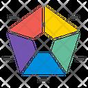 Pentagram Analytics Analysis Icon