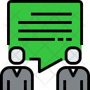 People Talk Communication Icon