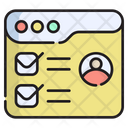 Online Check Profile Check Profile Verify User Icon