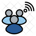 People Team Internet Of Things Icon