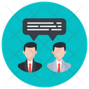 People Communication Conversation Discussion Icon
