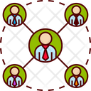 People Connection Networking Icon