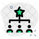 People Hierarchy Connection Network Icon