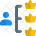 People Hierarchy Organization Structure Connection Icon