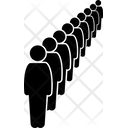 People Line Stright Line Line Icon