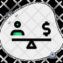 People Money Balance User Balance Finance Icon