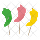 Pepper Lollipops Suckers Candy Carolina Reaper Icon
