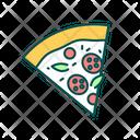 Pepperoni Pizza Slice Icon