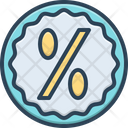 Percent Offer Discount Icon