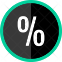 Percent Interest Rate Icon
