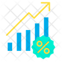Percentage Growth Graph Profit Graph Icon