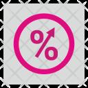 Percentage Grow Percent Icon