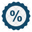 Percentage Discount Offer Percentage Ratio Icon