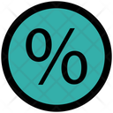 Percentage Divided Present Icon