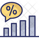 Percentage Graph Growth Icon