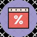 Percentage Discount Coupon Icon