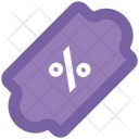Percentage Low Down Icon