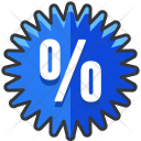 Percentage Sticker Badge Icon