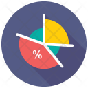 Percentage Graph Pie Icon