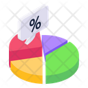 Percentage Graph Percentage Chart Data Analytics Icon