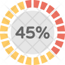 Loading Circle Percentage Icon