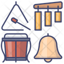 Drum Triangle Bell Icon