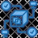 Performance Big Data Blockchain Icon