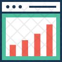 Performance Bar Graph Icon