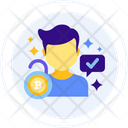Permissioned Blockchain Trading Access Trading Available Icon